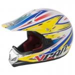 Vcan V310 White/LQI Youth MX Helmet