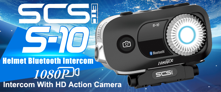 SCS S-10 Bluetooth Intercom With HD Camera