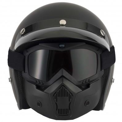 Vcan T50 Face Mask On Helmet